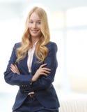 Sorridere attraente della donna di affari Immagini Stock