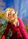 sorridere biondo Fotografie Stock