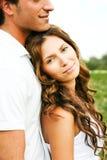 Sorridere casuale delle coppie Fotografia Stock