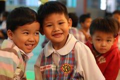 Sorridere degli studenti di asilo Fotografia Stock Libera da Diritti