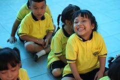 Sorridere degli studenti di asilo Immagini Stock Libere da Diritti