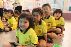 Sorridere degli studenti di asilo Fotografia Stock