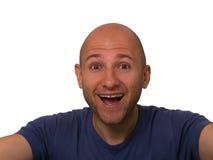 sorridere degli uomini Fotografia Stock Libera da Diritti
