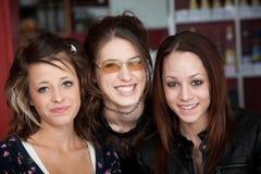 Sorridere dei tre amici Immagine Stock Libera da Diritti