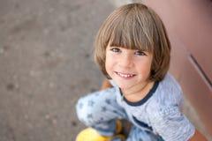 Sorridere del bambino. fotografie stock