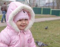 Sorridere del bambino all'aperto Immagine Stock
