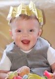 Sorridere del bambino di natale fotografie stock