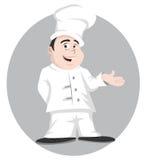 Sorridere del cuoco unico Immagini Stock