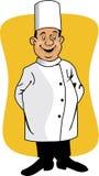 Sorridere del cuoco unico del fumetto royalty illustrazione gratis