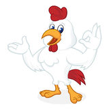 Sorridere del fumetto del pollo illustrazione di stock