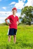 Sorridere del ritratto del bambino del ragazzo sveglio Fotografie Stock