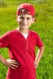 Sorridere del ritratto del bambino del ragazzo sveglio Fotografie Stock Libere da Diritti
