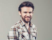 Sorridere del ritratto della barba dell'uomo Immagine Stock Libera da Diritti