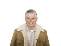 Sorridere dell'anziano del cowboy Fotografia Stock