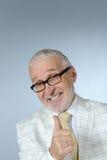 sorridere dell'anziano dell'uomo d'affari Fotografia Stock Libera da Diritti