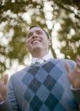 Sorridere dell'uomo Fotografia Stock