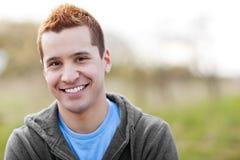 Sorridere dell'uomo della corsa Mixed Fotografie Stock Libere da Diritti
