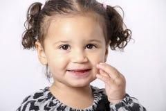 Sorridere della bambina Immagini Stock Libere da Diritti