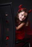 Sorridere della bambina. immagini stock