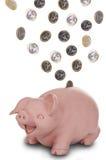 Sorridere della banca Piggy Immagini Stock