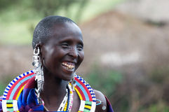 Sorridere della donna del Masai Fotografia Stock