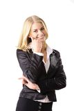 Sorridere della donna di affari fotografia stock libera da diritti