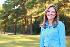 Sorridere della donna di affari Fotografie Stock Libere da Diritti