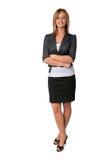 Sorridere della donna di affari Immagini Stock Libere da Diritti