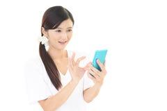Sorridere della donna felice Fotografie Stock