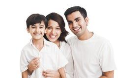 Sorridere della famiglia Fotografia Stock Libera da Diritti