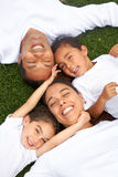 Sorridere della famiglia Fotografie Stock