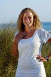 Sorridere della giovane donna Fotografie Stock