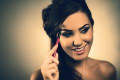 Sorridere della giovane donna felice Fotografia Stock