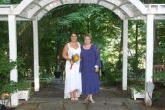 sorridere della madre della sposa Fotografia Stock