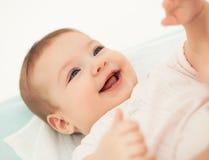 Sorridere della neonata Fotografia Stock