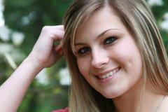 sorridere della ragazza del primo piano Fotografia Stock Libera da Diritti