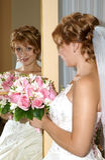 sorridere della sposa Immagini Stock