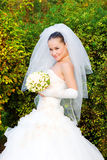sorridere della sposa fotografia stock libera da diritti