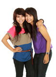Sorridere delle due ragazze Fotografia Stock