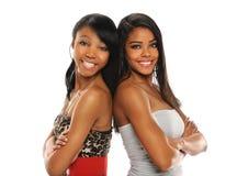 Sorridere delle giovani donne Immagine Stock
