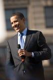 Sorridere di Barack Obama Immagini Stock