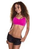 Sorridere di modello di forma fisica femminile. immagini stock