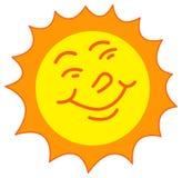 Sorridere di Sun Immagine Stock