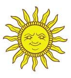 Sorridere di Sun del fumetto Fotografia Stock Libera da Diritti