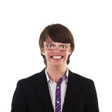 Sorridere divertente del giovane Fotografie Stock