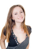 Sorridere donna abbastanza giovane Fotografie Stock Libere da Diritti