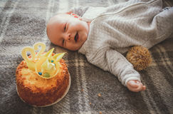 Sorridere felice del bambino Fotografia Stock Libera da Diritti