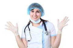 Sorridere felice del medico Immagini Stock Libere da Diritti