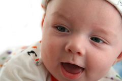 Sorridere felice del neonato Fotografie Stock Libere da Diritti