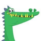 Sorridere fresco del coccodrillo del fumetto Illustrazione di vettore isolata Immagini Stock Libere da Diritti